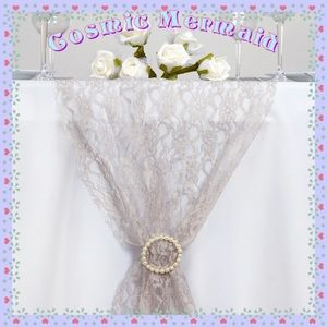 """Other - 🆕⭐️24 Floral Silver Lace 12""""X108"""" TABLE RUNNERS⭐️"""